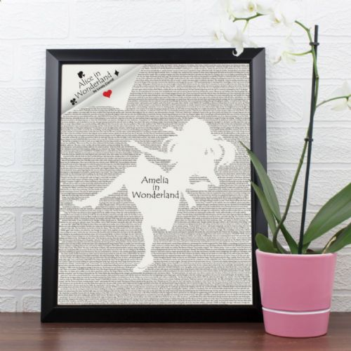 Personalised Alice in Wonderland Poster Frame